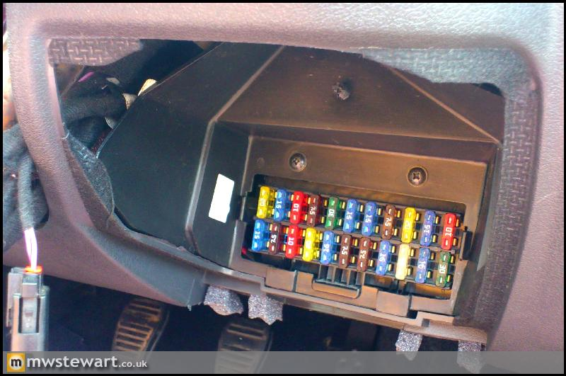 Ford Focus Immobiliser Fuse Location